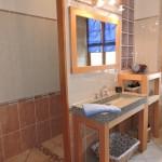 La salle d'eau du gîte