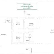 Plan du gîte LE FABILIE DU SUZON